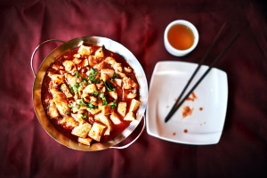 Silky bean curd with chile oil at Chili Szechuan. Photo by Neal Santos/City Paper.