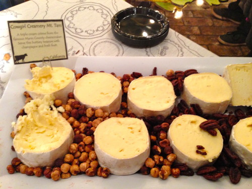 Cowgirl Creamery's Mt Tam, a triple cream cheese that remarkably (and happily) tasted a lot like butter