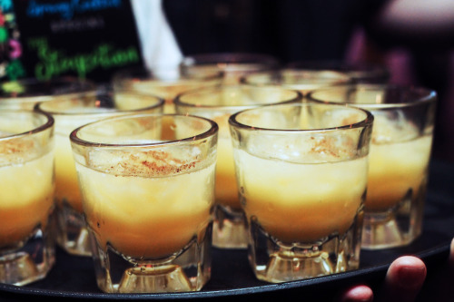 The Staycation cocktail - a tropical blend of a blend of Sailor Jerry rum, cream of coconut, pineapple and orange juice, and spices