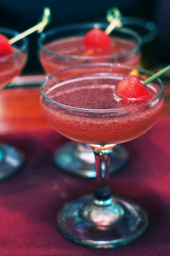 Despite its candy-pink color, Bistro Romano's watermelon cocktail was sweet and simple - just vodka and watermelon - with no hint of artificiality.