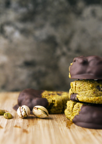 Chocolate-dipped salted pistachio cookie from Love Chunk PC: Love Chunk